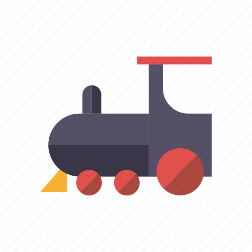 locomotive, playing, railway, steam train, toys, transportation icon