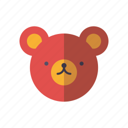 animal, bear, face, playing, teddy, toys icon
