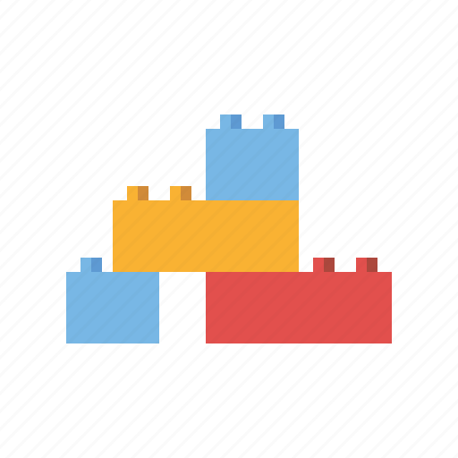 blocks, bricks, construction, playing, toys icon