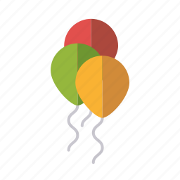 balloons, celebration, decoration, festive, party, playing, toys icon