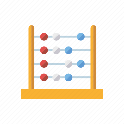 abacus, education, math, mathematics, meaths, playing, toys icon