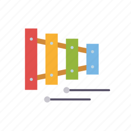 music, musical instrument, percussion, playing, sound, toys, xylophone icon