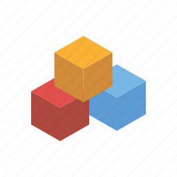 bricks, building blocks, cubes, playing, toys icon