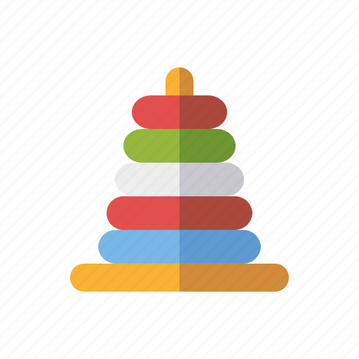 game, playing, rings, stack, toys icon