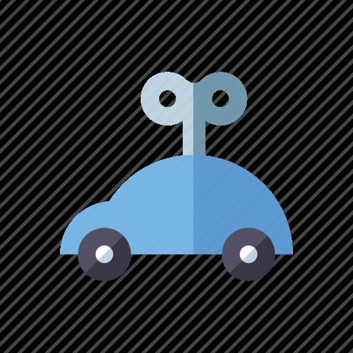 car, key, mechanical, playing, toys, vehicle, windup toy icon