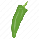 cubanelle peppers, green chili, jalapeno pepper, poblano, serrano pepper icon