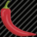 chili pepper, hot chili, piri piri, red chili, tabasco pepper icon
