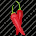 chili pepper, chilies, hot chili, hot pepper, red chili icon