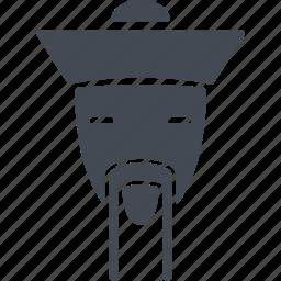 china, man, mustache, old man icon
