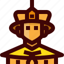 avatar, china, costume, emperor, man, person, tradition icon