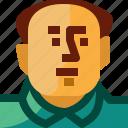avatar, china, communism, man, mao, person icon