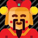china, chinese, god, god of wealth, money, wealth icon