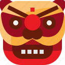 asian, celebration, china, chinese, festival, lion, mask icon