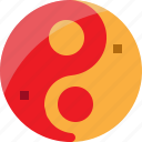 china, religion, sign, tao, yin yang icon