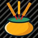 china, chinese, incense, joss, pot, stick icon