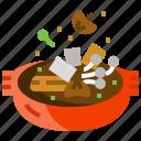 chinese, food, herb, mushroom, soup, vegetable