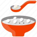 food, balls, chinese, glutenous, tangyuan, rice icon