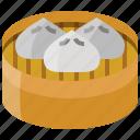 box, chinese, dumpling, food, steamed, wonton icon