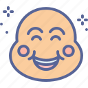 buddha, chinese, laughing, mask, smile icon