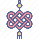 amulet, chinese, knot, new year icon