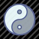 philosophy, spiritual, taoism, yin yang icon
