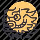 chinese, dragon, head, newyear icon