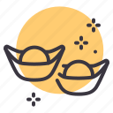currency, gold, ingot, sycee icon