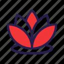 flower, garden, lotus, spring icon