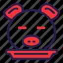 food, head, pig, pork icon