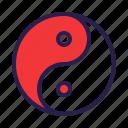 philosophy, taoism, yang, yin icon