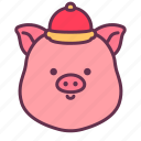 animal, china, chinese, head, newyear, pig