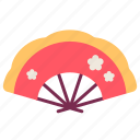 china, chinese, fan, flower, newyear icon