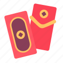 envelope, yuan, red, money, reward, chinese icon