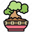 bonsai, decoration, garden, nature, plant icon