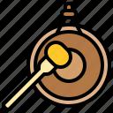 gong, instrument, music, signal, sound