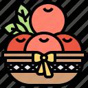 blessing, fruits, luck, prosperity, tangerine