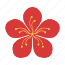 blossom, chinese, floral, flower, new year, peach, plant icon