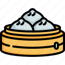 dumpling, steam bun, chinese new year, chinese, cultures, food icon