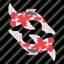 carp, fish, chinese, traditional, koi carp icon
