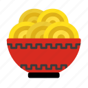 chinese new year, chopstick, food, lunar, noodles, oriental, bowl icon