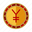 yuan, coin, chinese, money, currency