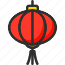 asian, chinese, lantern, new, red, year icon
