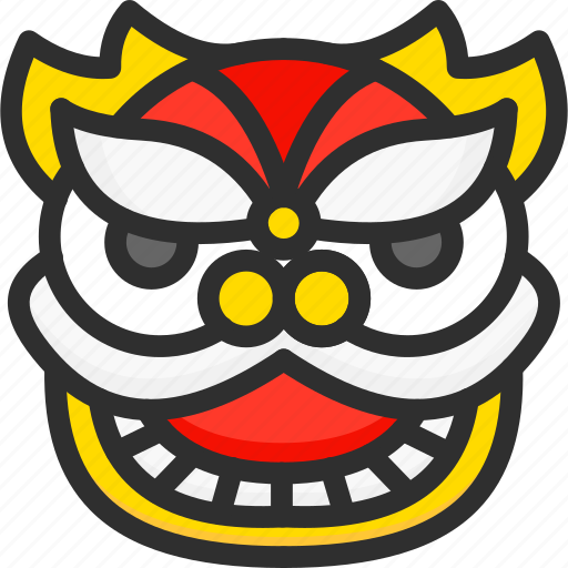 asian, chinese, dragon, head, new, year icon