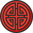 asian, chinese, hieroglyph, new, sign, year icon