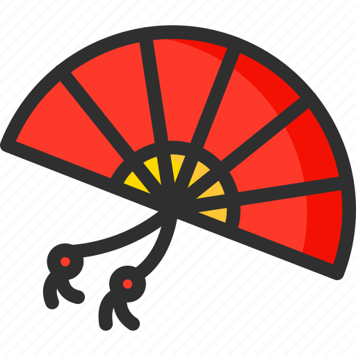 asian, chinese, fan, hand, new, year icon