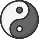 asian, chinese, new, yang, year, yin icon