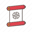 scroll, banner, chinese, new, year, festival