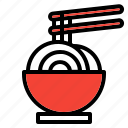 chinese, chopstick, food, new year icon, noodle