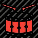 chinese, drum, new year icon, tanggu icon