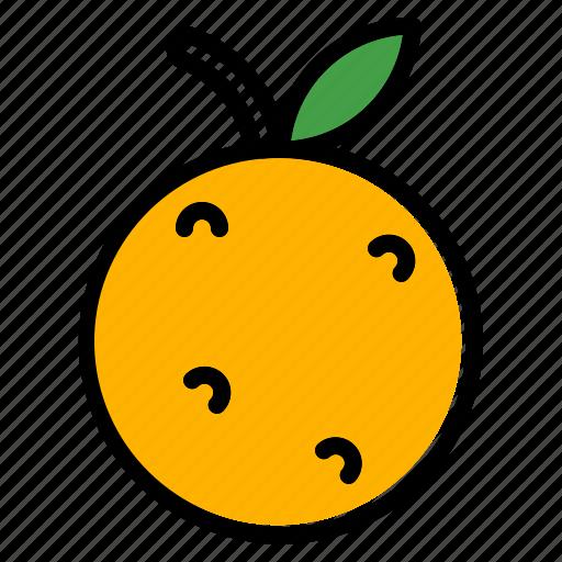 chinese, mandarin, new year icon, orange tangerine icon icon